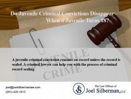 Juvenile criminal convictions
