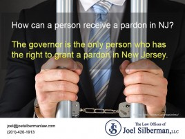 How can a person receive a pardon in NJ?
