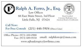 Ralph A. Ferro, Jr., Esq. Business Card