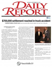 Daily Report Front Page