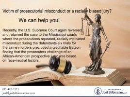 Victim of prosecutorial misconduct or a racially biased jury?