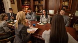 Krispen Culbertson in a meeting