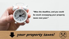 Deadline to file property tax appeal