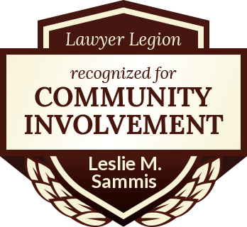 Leslie M. Sammis has earned recognition for community involvement by Lawyer Legion
