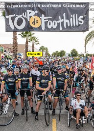 We are a regular sponsor of Tour De Foothills