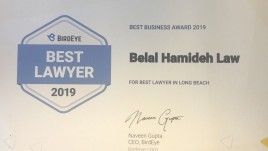 2019 Belal Hamideh Best Lawyer in Long Beach