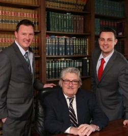 Attorney Fred Knez with Sons Matthew and Andrew