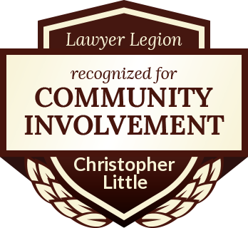 Christopher N. Little has earned recognition for community involvement by Lawyer Legion