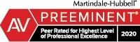 AV Preeminent - voted by clients, lawyers and judges
