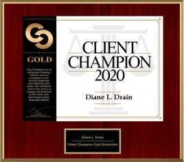 Client Champion Award for 2020