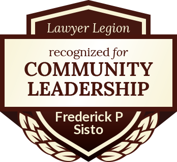 Frederick P Sisto has earned Lawyer Legion's recognition for Community Leadership