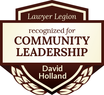 David Clifford Holland has earned recognition for community leadership by Lawyer Legion