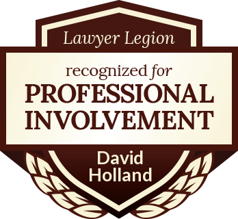 David Clifford Holland has earned recognition for professional involvement by Lawyer Legion