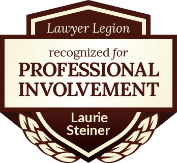 Laurie Glandt Steiner has earned recognition for professional involvement by Lawyer Legion