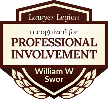 William W Swor has earned recognition for professional involvement by Lawyer Legion