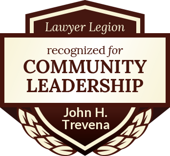 John H. Trevena has earned recognition for community leadership by Lawyer Legion