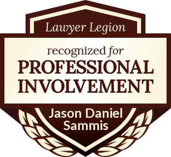 Jason Daniel Sammis has earned recognition for professional involvement by Lawyer Legion