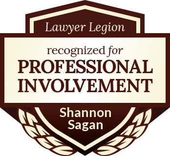 Shannon Joseph Sagan has earned recognition for professional involvement by Lawyer Legion