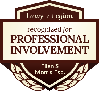 Ellen S Morris Esq. has earned recognition for professional involvement by Lawyer Legion