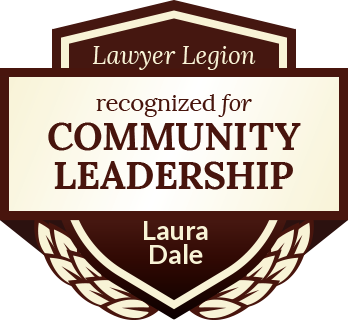 Laura June Dyke Dale has earned recognition for community leadership by Lawyer Legion