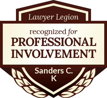 Charles K Sanders has earned recognition for professional involvement by Lawyer Legion