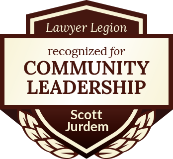 Scott Jurdem has earned recognition for community leadership by Lawyer Legion