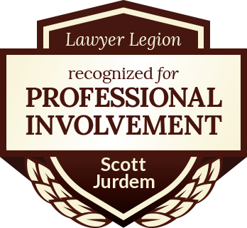 Scott Jurdem has earned recognition for professional involvement by Lawyer Legion
