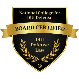 National College for DUI Defense, Board Certified Specialist, DUI Defense Law