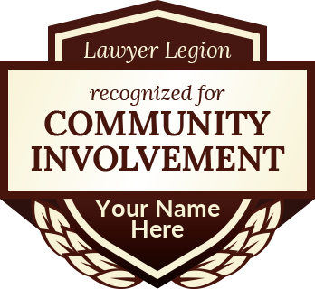 Lawyer Legion - recognized for Community Involvement